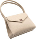 "Luxury Accessories:Bags, Chanel Beige Burlap Shoulder Bag. Excellent Condition. 10"" Width x 8"" Height x 4"" Depth. ..."