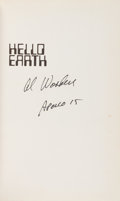 Autographs:Celebrities, Al Worden Signed Book: Hello Earth, Greetings From Endeavour....