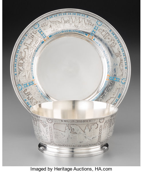 An R. Blackinton & Co. Enameled and Acid-Etched Silver | Lot #74322 ...