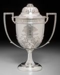 Silver Holloware, British:Holloware, A Vaughton & Sons Silver Covered Trophy Cup: Lyceum BilliardTrophy, Birmingham, England, 1914. Marks: (lion passant...