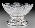Silver Holloware, Continental:Holloware, A Christofle Silver-Plated and Cut-Glass Bowl, Paris, circa1921-1931. Marks: (C-cat-C), (Gallia rooster), 5084. 6-3/8i... (Total: 2 Items)