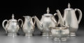 Silver Holloware, American:Tea Sets, A Five-Piece International Silver Co. Royal Danish PatternSilver Tea and Coffee Service, Meriden, Connecticut, ... (Total: 5Items)