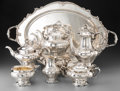 Silver Holloware, American:Tea Sets, A Seven-Piece Gorham Chantilly Pattern Silver Tea and CoffeeService, Providence, Rhode Island, designed 1895, m... (Total: 7Items)
