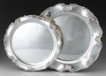 Silver Holloware, American:Trays, Two Gorham Silver Chantilly Pattern Trays, Providence, RhodeIsland, designed 1895. Marks: (lion-anchor-G), ST... (Total: 2Items)