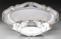 Silver Holloware, American:Trays, A Gorham Chantilly Pattern Silver Oval Tray and BreadBasket, Providence, Rhode Island, designed 1895. Marks: (l...(Total: 2 Items)