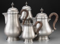 Silver Holloware, Continental:Holloware, A Four-Piece Mario Buccellati Queen Anne-Style Italian Silver Teaand Coffee Set, Milan, 20th century. Marks: M BUCCELLATI...(Total: 4 Items)