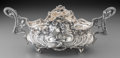 Silver Holloware, Continental:Holloware, A Continental Art Nouveau-Style Silver Jardinière, 20th century.Marks: SMG, 925. 6-3/4 h x 17 w x 5-5/8 d inches (17.1 ...(Total: 2 Items)