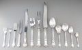 Silver Flatware, American:Gorham, A Ninety-Five Piece Gorham Old Baronial Pattern Flatware Service, Providence, Rhode Island, designed... (Total: 95 Items)