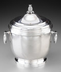 Silver Holloware, American:Other , A Tiffany & Co. Silver Covered Ice Bucket with Insulated Liner,New York, late 20th century. Marks: TIFFANY & CO...