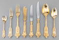 Silver Flatware, Continental:Flatware, A Fine One Hundred and Twenty-Five Piece Lazarus Posen Witwe GiltSilver Flatware Service, Berlin & Frankfurt, Germany, earl...(Total: 125 Items)