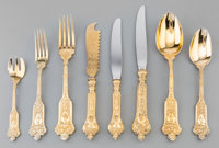 A Fine One Hundred and Twenty-Five Piece Lazarus Posen Witwe Gilt Silver Flatware Service, Berlin & Frankfurt, G...