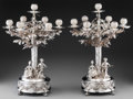 Silver & Vertu:Hollowware, A Pair of Weinranck & Schmidt German Silver Seven-Light Figural Candelabra, Hanau, Germany, late 19th-early 20th century. Ma... (Total: 2 Items)