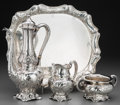 Silver Holloware, American:Coffee Pots, A Four-Piece Gorham Martelé Silver Coffee Service, Providence,Rhode Island, circa 1899-1905. Marks: Martelé, (lion-anch...(Total: 4 Items)