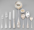 Silver Flatware, Continental:Flatware, An Eighty-One Piece H. Meyen & Co. German Silver FlatwareService in Fitted Canteen, Berlin, Germany, post-1886. Marks:(cre... (Total: 81 Items)