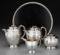 Silver Holloware, American:Tea Sets, A Five-Piece Rogers, Lunt & Bowlen Modernist Silver Tea andCoffee Service Designed by Robert E. Locher, circa 1930. Marks: ...(Total: 5 Items)