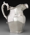 Silver Holloware, American:Pitchers, A Gale, Wood & Hughes Silver Water Pitcher, circa 1833-1845.Marks: GW&H, STERLING. 9-1/8 inches high (23.2 cm).19.14 t...