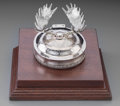 Silver Holloware, American:Desk Accessories, A Tiffany & Co. Special Order Partial Gilt Silver Inkwell, NewYork, circa 1892-1902. Marks: TIFFANY & CO. 14086 MAKERS67...
