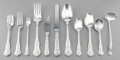 Silver Flatware, American:Tiffany, A Forty-One Piece Tiffany & Co. Olympian Pattern SilverFlatware Service for Six, New York, designed 1878, manuf... (Total:41 Items)
