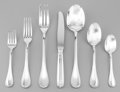 Silver & Vertu:Flatware, A Forty-Two Piece Christofle Malmaison Silver-Plated Flatware Service for Eight, Paris, designed 1967. Marks: ... (Total: 42 Items)