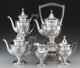 A Five-Piece Shreve & Co. Silver Tea and Coffee Service, San Francisco, California, early 20th century Marks: SH...