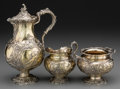 Silver Holloware, Continental:Holloware, A Three-Piece German Gilt Silver Hot Chocolate Set, Hanau, Germany,late 19th-early 20th century. Marks: (crescent), (crown)... (Total:3 Items)