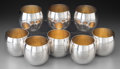 Silver Holloware, American:Cups, Eight Tiffany & Co. Partial Gilt Silver Punch Cups, New York,post-1965. Marks: TIFFANY & CO, MAKERS, STERLING SILVER,240... (Total: 8 Items)