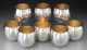 Eight Tiffany & Co. Partial Gilt Silver Punch Cups, New York, post-1965 Marks: TIFFANY & CO, MAKERS, STE...