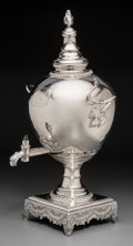 Silver Holloware, British:Holloware, An English Sheffield Plate Hot Water Urn, circa 1790. 20-1/4 h x 11w x 10-3/4 d inches (51.4 x 27.9 x 27.3 cm). ...