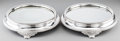 Silver Holloware, British:Holloware, A Pair of Edwardian Silver-Plated Mirrored Plateaus, early 20thcentury. 2-7/8 inches high x 12-1/2 inches diameter (7.3 x 3...(Total: 2 Items)