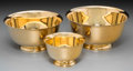 Silver Holloware, American:Bowls, Three Tiffany & Co. Gilt Silver Graduated Bowls, New York,post-1965. Marks: TIFFANY & CO, MAKERS, STERLING SILVER,(var... (Total: 3 Items)