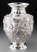 Silver Holloware, Continental:Holloware, A Large Fassi Arno Silver Vase, circa 2000. Marks: (Medusa),STERLING, MADE IN ITALY, SILVER BY GRAND. 15-3/8 incheshig...