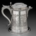 Silver Holloware, American:Pitchers, A John Chandler & Edward Moore Narrative Tankard-Form SilverPitcher for Tiffany & Co., New York, circa 1860. Marks:TIFFA...