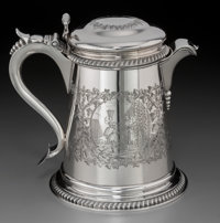 A John Chandler & Edward Moore Narrative Tankard-Form Silver Pitcher for Tiffany & Co., New York, circa...