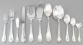 Silver Flatware, Continental, A Sixty-Five Piece Italian Silver Flatware Service, Padova, Italy, late 20th century. Marks: (boot), 925, Sterling, Italy... (Total: 65 Items)