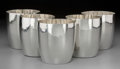 Silver Holloware, American:Cups, Five Porter Blanchard Hand-Hammered Silver Cups, Calabasas,California, circa 1930. Marks: PORTER BLANCHARD, STERLING,(... (Total: 5 Items)
