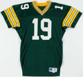 Football Collectibles:Uniforms, 1991 Green Bay Packers Game Worn Jersey....