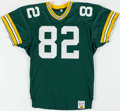 Football Collectibles:Uniforms, 1991-1992 Erik Affholter and/ or Sanjay Beach Green Bay Packers Game Worn Jersey....
