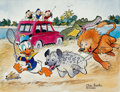 Memorabilia:Disney, Carl Barks Help! Help! Our Unca Donald is Number Two In a Food Chain Signed Limited Edition Print PP #24/25 (Carl ... (Total: 4 )
