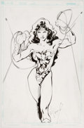 Original Comic Art:Splash Pages, Buzz (Aldrin Aw) Wonder Woman Pin-Up Original Art (undated)....
