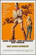 "Movie Posters:Western, The Train Robbers (Warner Brothers, 1973). Folded, Very Fine.International One Sheet (27"" X 41"") Robert Tanenbaum Ar..."