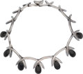 Silver & Vertu:Smalls & Jewelry, An Antonio Pineda Mexican Silver and Onyx Necklace, Taxco, circa 1950. Marks: ANTONIO (crown), HECHO EN MEXICO, 920, Y...