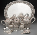 Asian:Other, A Twenty-One Piece Indonesian Silver Tea and Coffee Service, 20thcentury. Marks: SN, 800, DELUXE. 15-1/4 inches high x ...(Total: 21 Items)