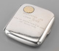 Silver & Vertu:Other Silver, A Japanese Silver Cigarette Case with Presentation Inscription from Crown Prince Hirohito, early 20th century. Marks: K. H...
