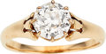 Estate Jewelry:Rings, Diamond, Gold Ring The ring features a Europea...
