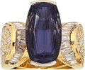 Estate Jewelry:Rings, Iolite, Diamond, Gold Ring. ...
