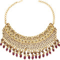 Estate Jewelry:Necklaces, Diamond, Ruby, Enamel, Gold Necklace. ...