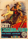 "Movie Posters:Western, Riding Shotgun (Warner Brothers, 1954). Italian 2 - Fogli (39"" X55"") Luigi Martinati Artwork.. ..."