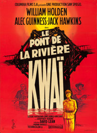 """The Bridge on the River Kwai (Columbia, 1958). Full-Bleed French Grande (45.5"""" X 62.75"""") Style B, Georges Kerf..."""