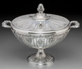 Silver Holloware, Continental:Holloware, A Polio Marion Silver Covered and Footed Tureen, Milan, circa 1970. Marks: 925, LAVORAZIONE A MANO, (103-MI). 10-7/8 inc...