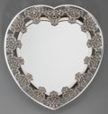 Silver & Vertu:Hollowware, A William Comyns Silver Heart-Shaped Mirrored Plateau, London, 1895. Marks: (lion passant), (leopard's head), U, W.C.. 1...
